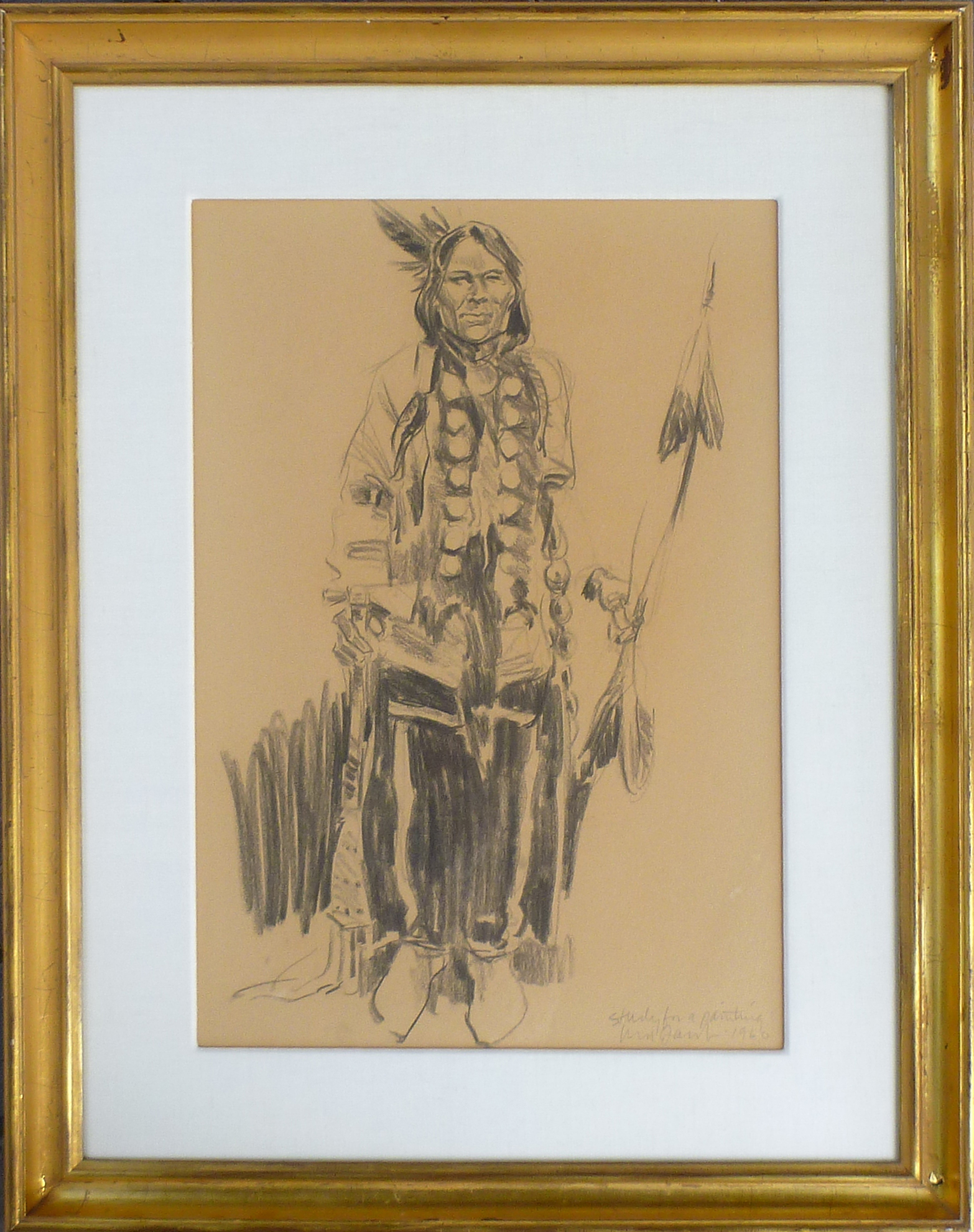 Standing Indian by  Ned Jacob - Masterpiece Online
