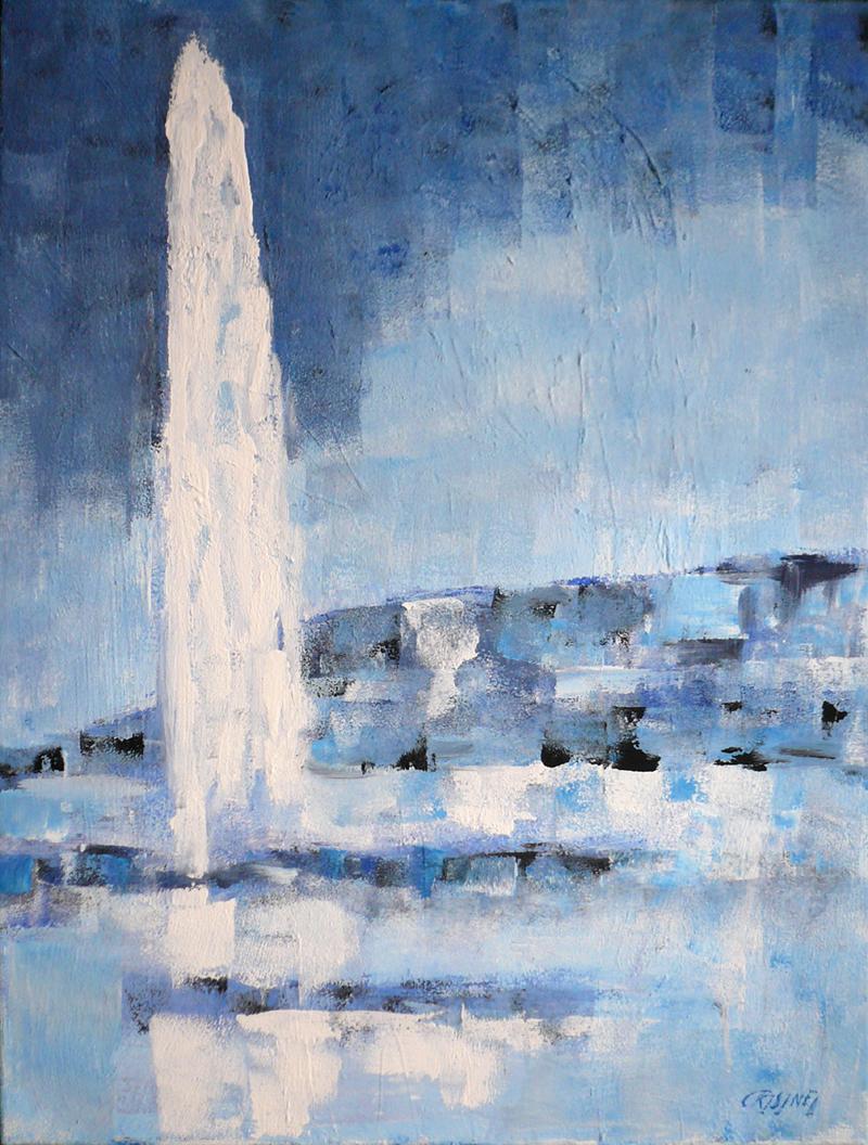 Le jet d'eau by   CRISINEL - Masterpiece Online