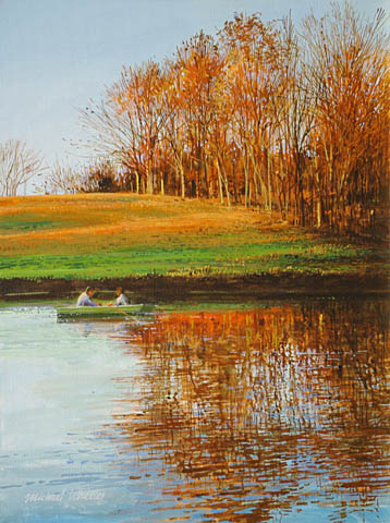 Rowing at Sunset by  Michael Wheeler - Masterpiece Online