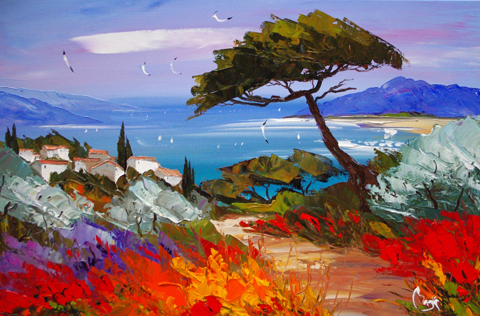 Cypress on the Path by  Louis  Magre - Masterpiece Online