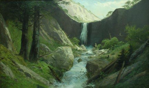 Waterfall by  F  Schafer  - Masterpiece Online