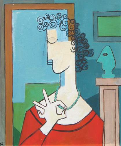 Woman with a Pearl Ne... by  Tom Maley - Masterpiece Online