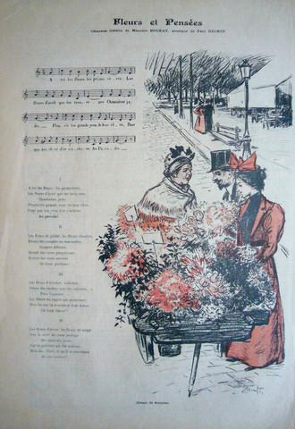 Gil blas, fleurs et p... by  Alexandre Theophil Steinlen - Masterpiece Online