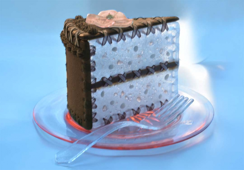 Chocolate Peach Cake ... by  Susan Taylor Glasgow - Masterpiece Online