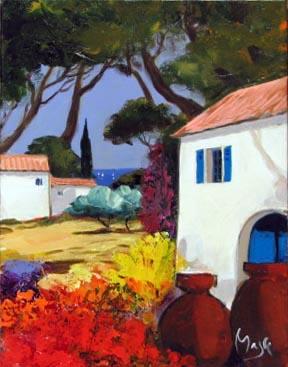 Terracota pots by  Louis  Magre - Masterpiece Online