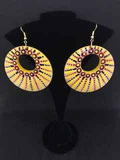 Hoop earrings Yellow by Ms Irene Bowyer - Masterpiece Online