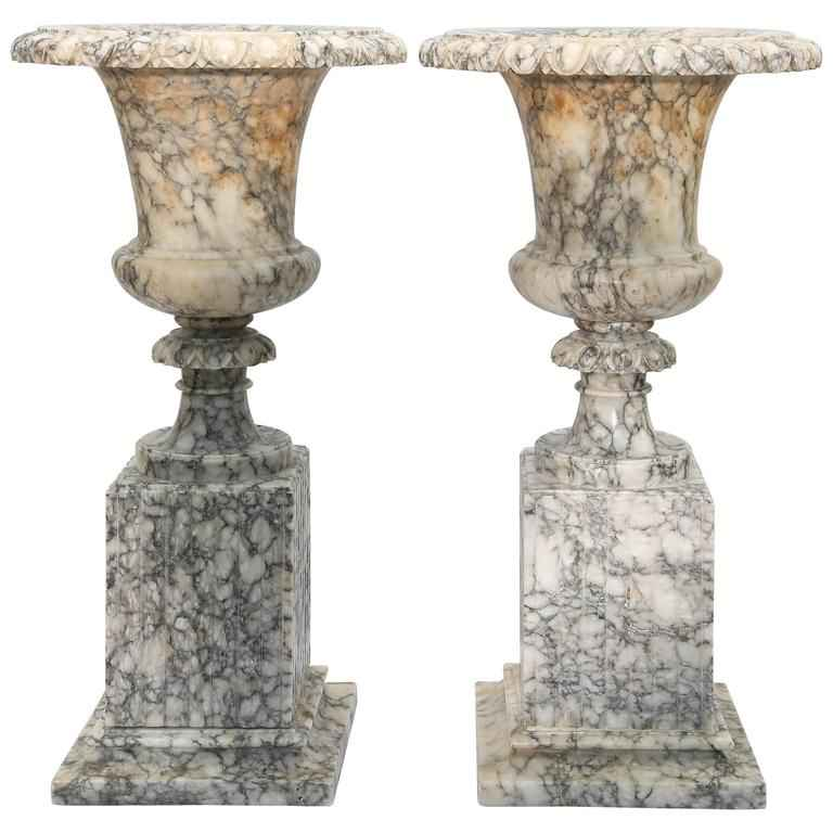 Pair of Carved Alabas... by  Italian  - Masterpiece Online