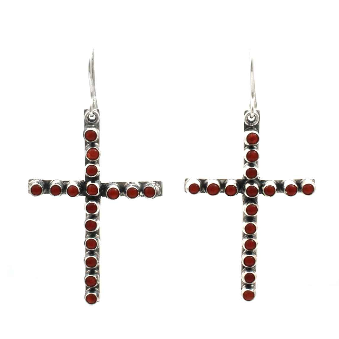 Red Coral Cross Dangl... by  Don Lucas - Masterpiece Online
