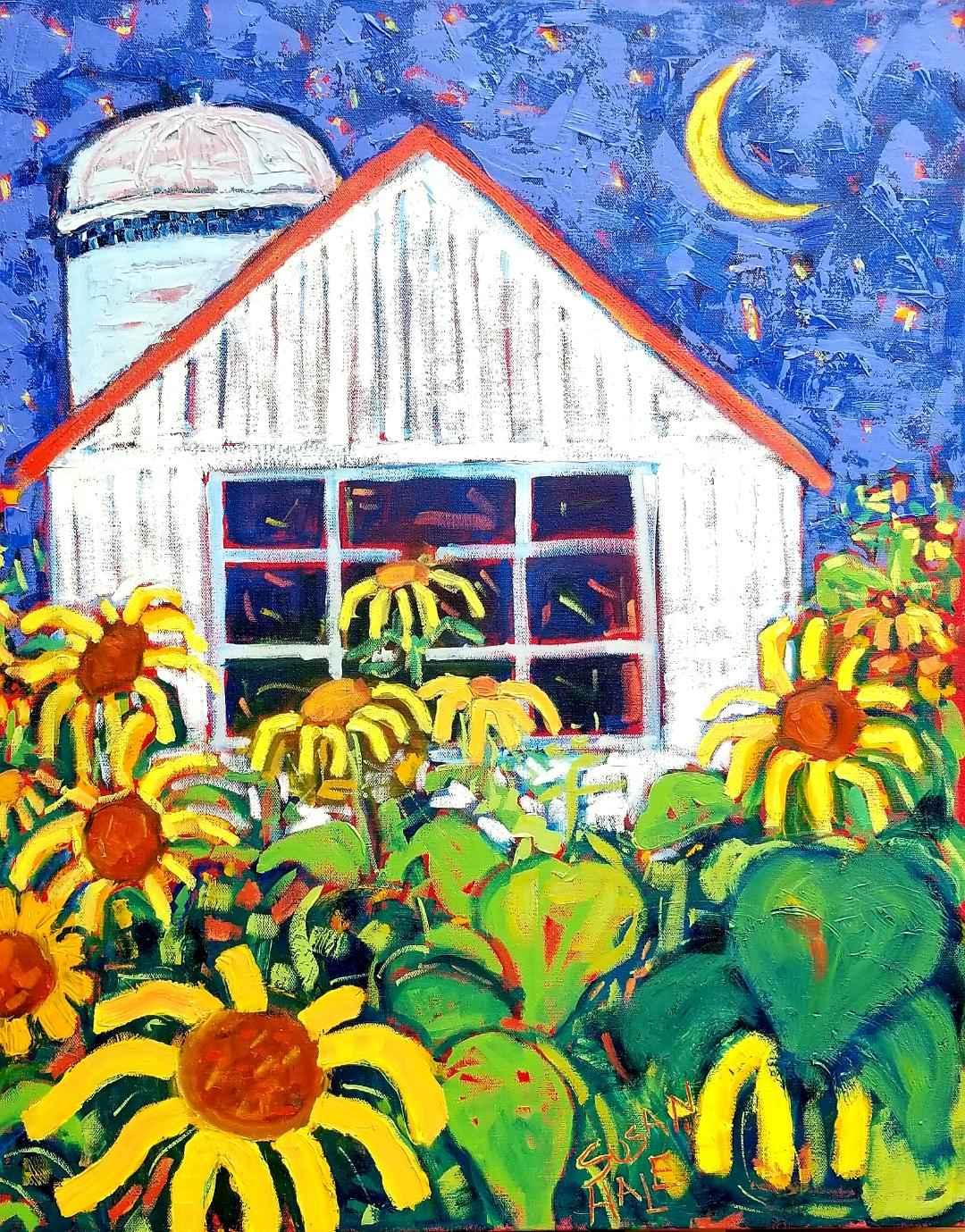 Moonlight Sunflowers