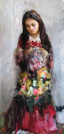 The Young Gypsy  by  Nikolai  Blokhin