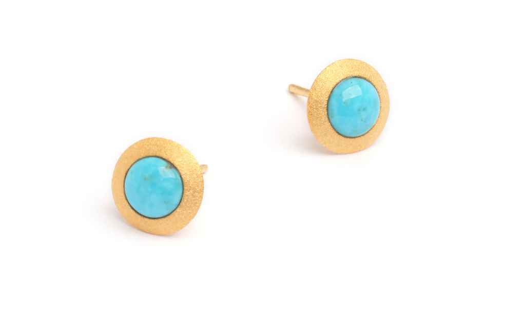 Disca Turquoise Earri... by  Bernd Wolf - Masterpiece Online