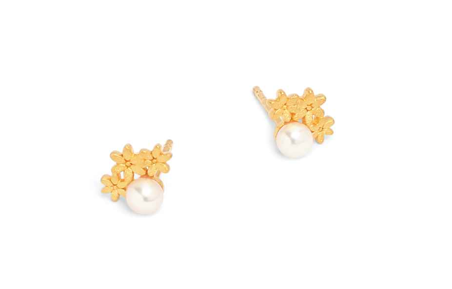 Triflores Pearl Earri... by  Bernd Wolf - Masterpiece Online