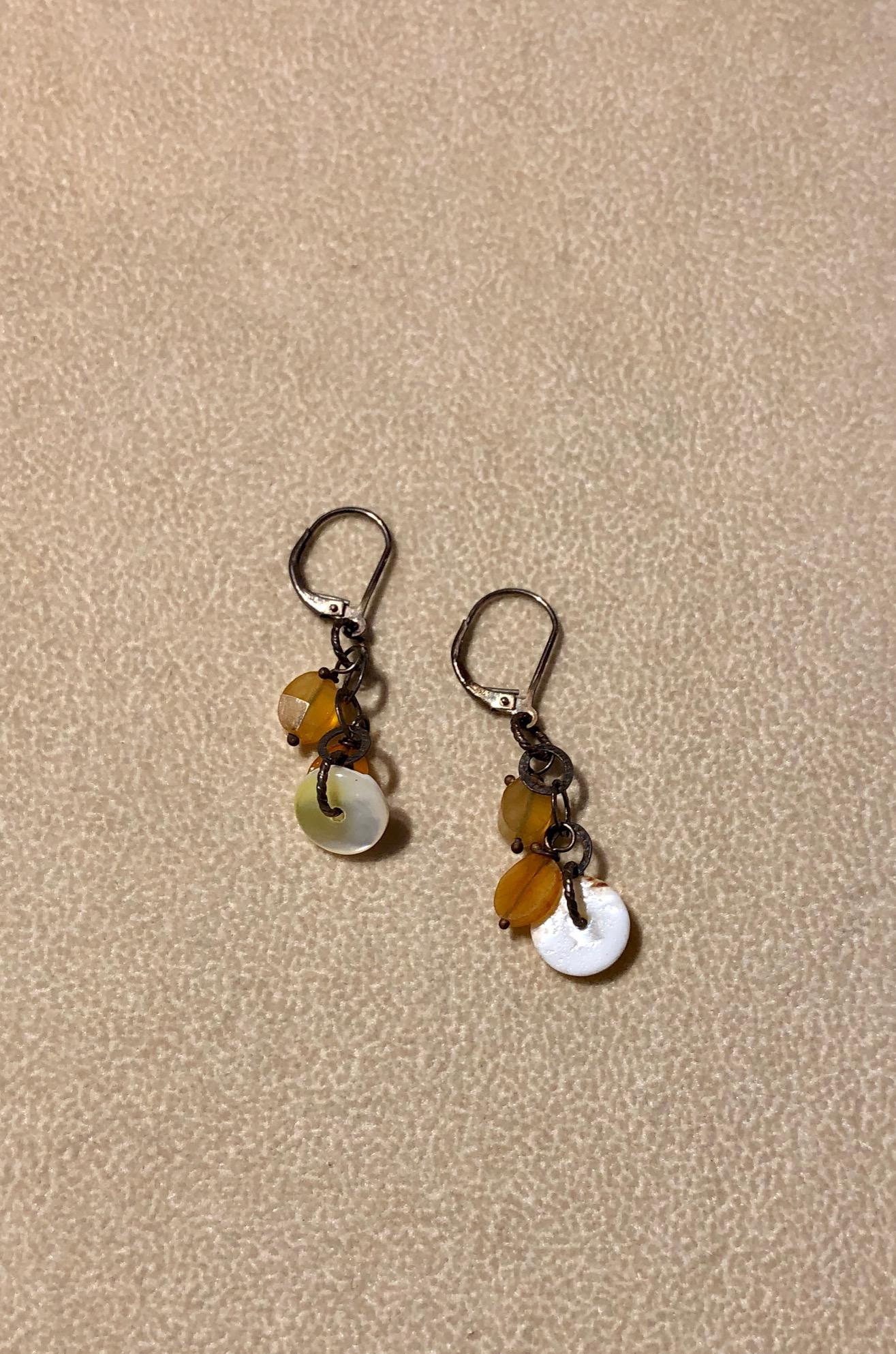 Tangerine Drop Earrings