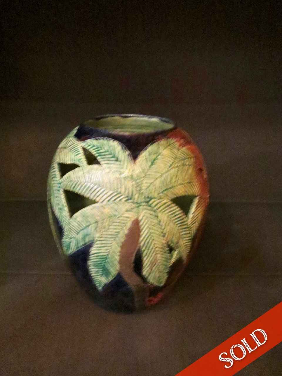 Raku Fired Large Carv... by Ms. Birgitta Frazier - Masterpiece Online