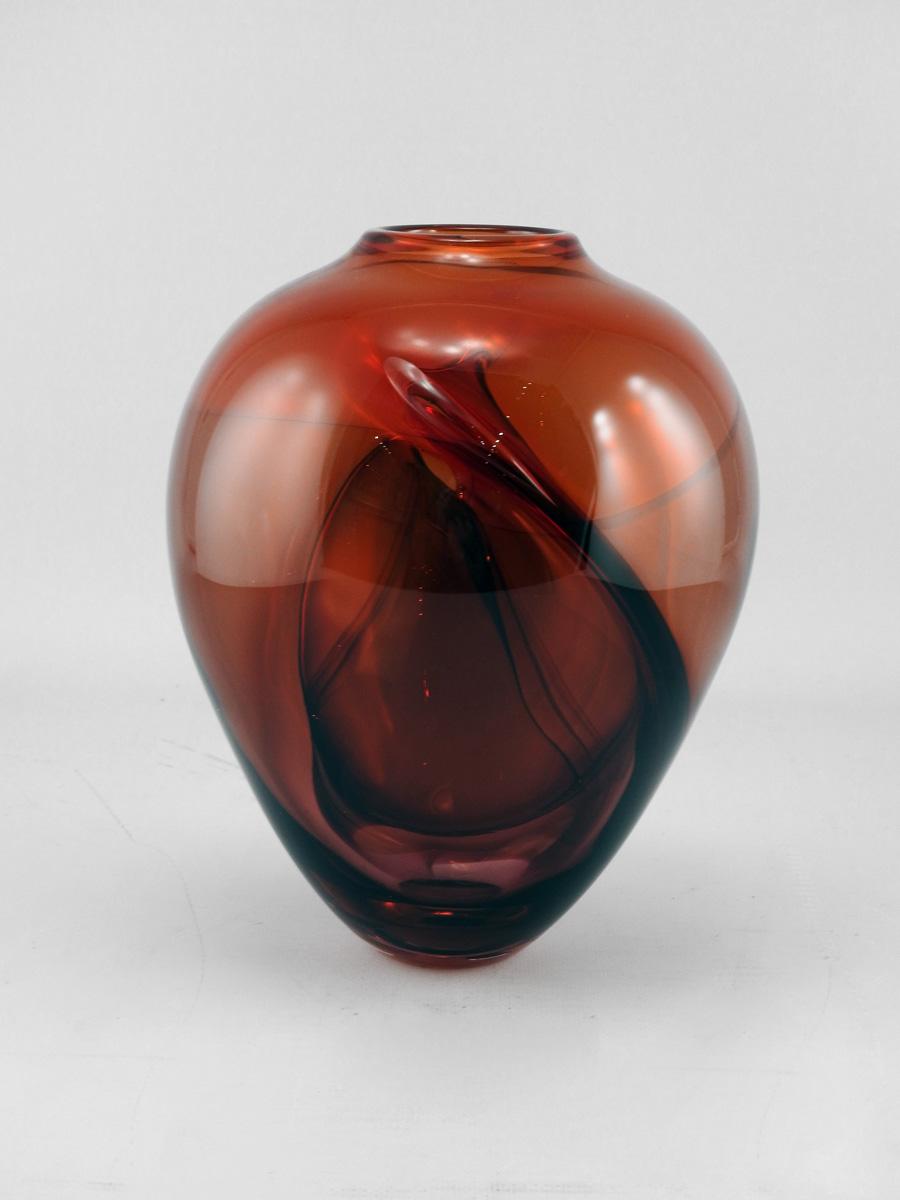 Wave Vase/Red by  Michelle Kaptur - Masterpiece Online