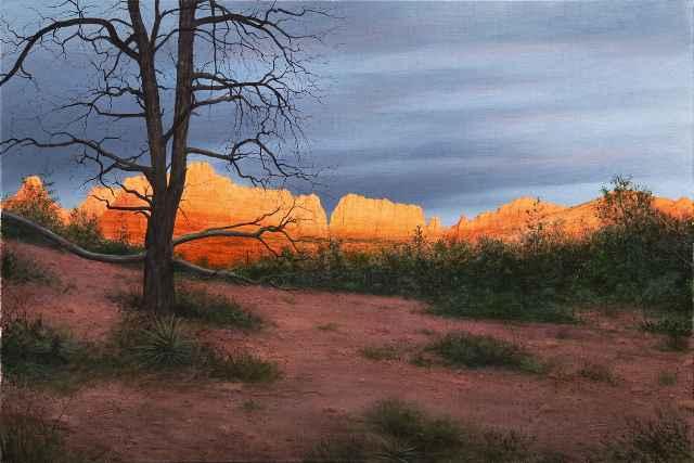 Sedona Sunset ap 7/20  by  Alexander Volkov