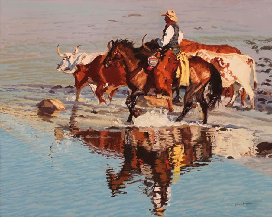 River Reflection by  Glen Edwards - Masterpiece Online
