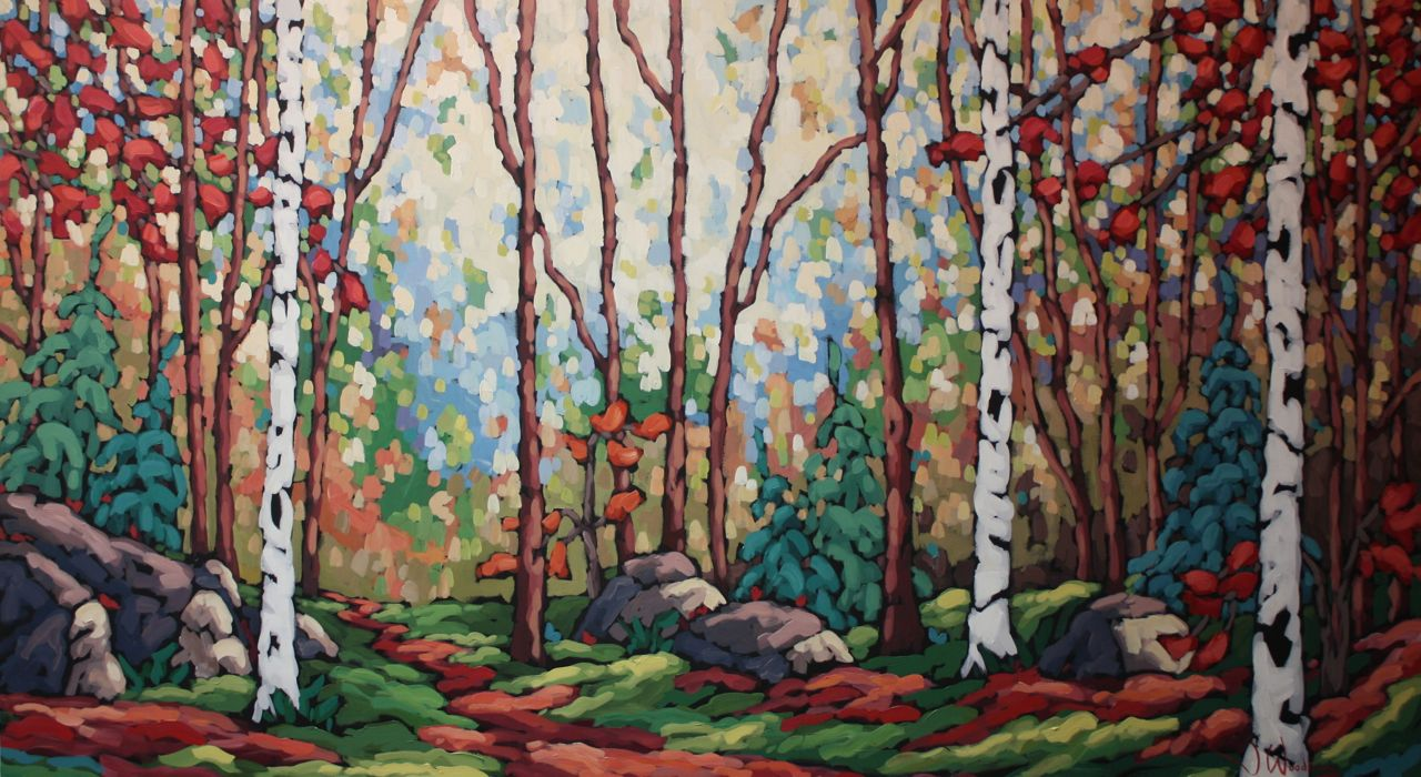 Forest Sunlight - Com... by Ms Jennifer Woodburn - Masterpiece Online