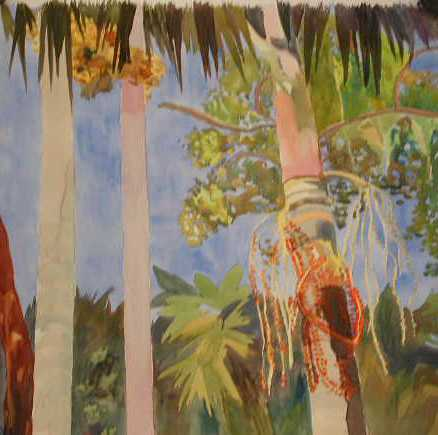 Four Palms - Blue Sky by  Barbara Britts - Masterpiece Online