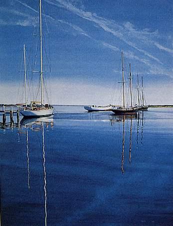 Still Harbor by  David Wallis - Masterpiece Online