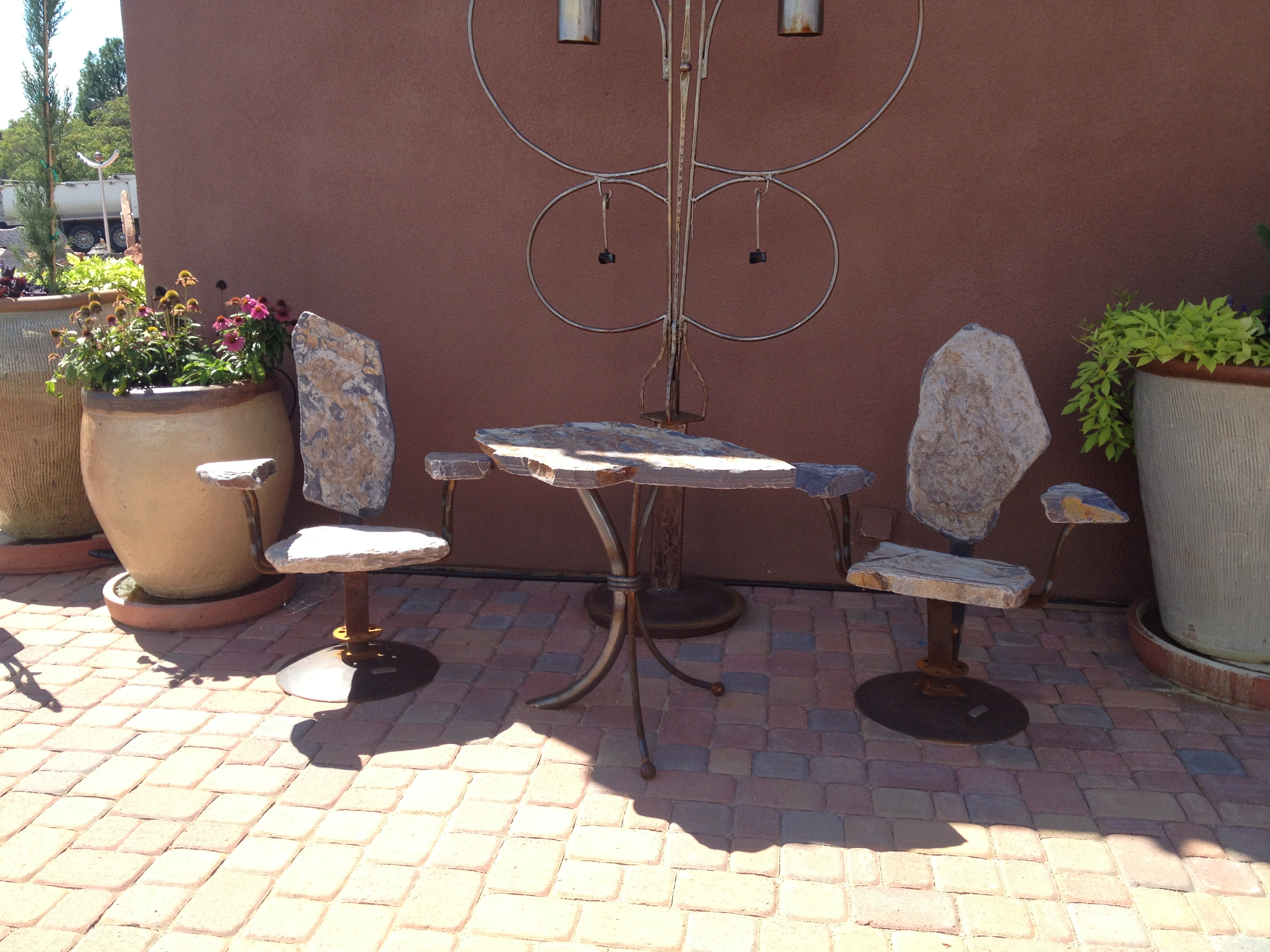 Stone Chair Bistro Set by   Stone Chair Sets - Masterpiece Online