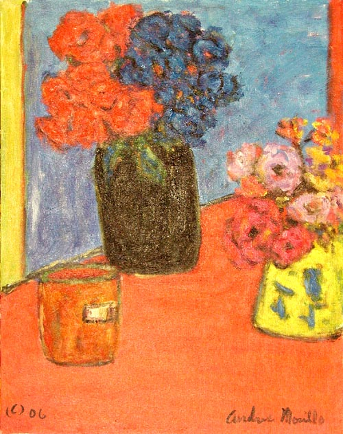 Two Vases With Flowers by  Andres  Morillo - Masterpiece Online