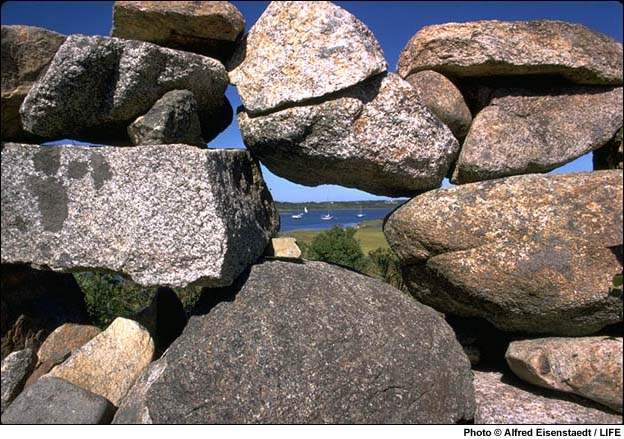 Stone Wall frames a v... by  Alfred Eisenstaedt - Masterpiece Online