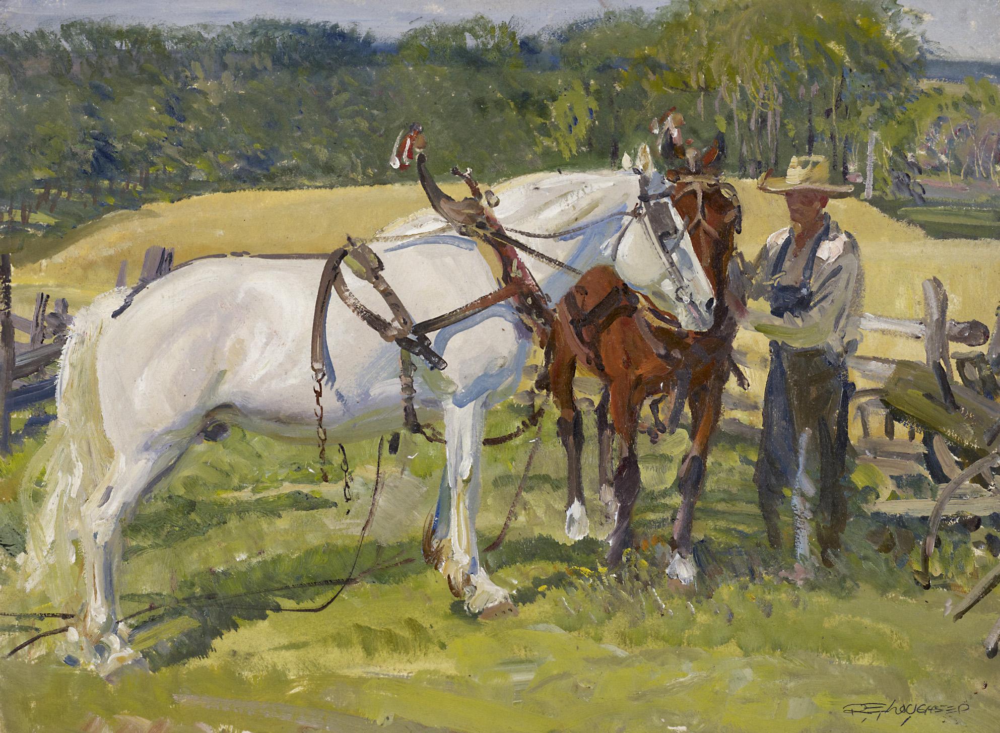 Heavy Horses by  Robert Lougheed - Masterpiece Online