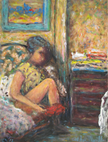 Dressing After Sleepi... by  Andres  Morillo - Masterpiece Online