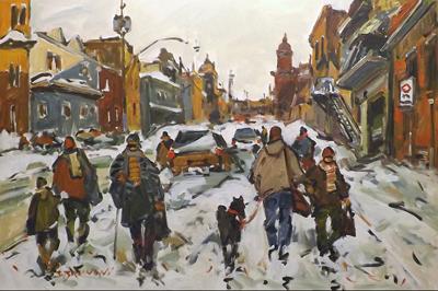 Marquette St, Montrea... by  Serge Brunoni - Masterpiece Online
