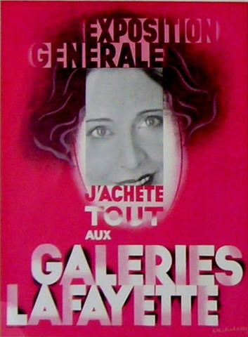 Galeries Lafayette by  Adolphe Mouron Cassandre - Masterpiece Online