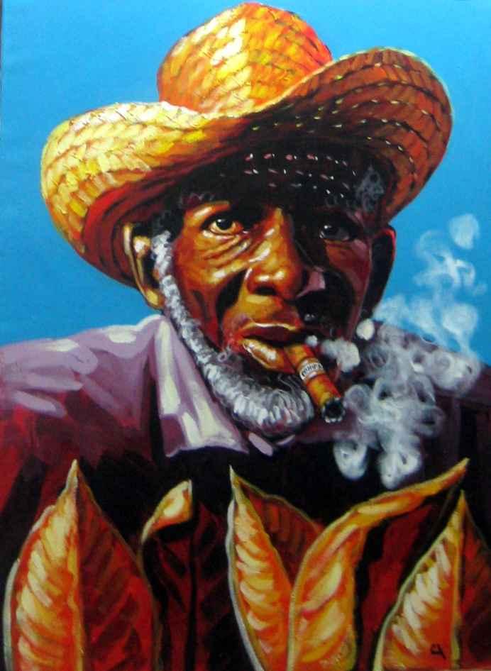 Cigar and Hat by  Carlos Momoytio - Masterpiece Online
