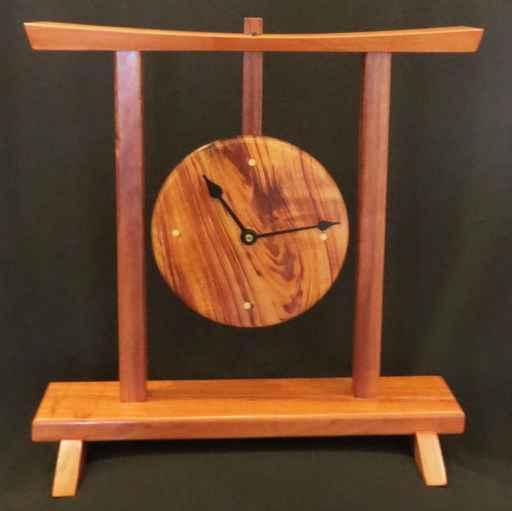 Koa Gong Clock by Mr. Parker Nicholson - Masterpiece Online