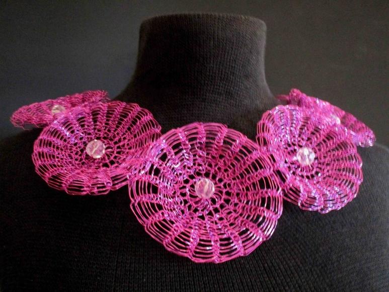 Pink Flower Wreath  by  Arline  Fisch