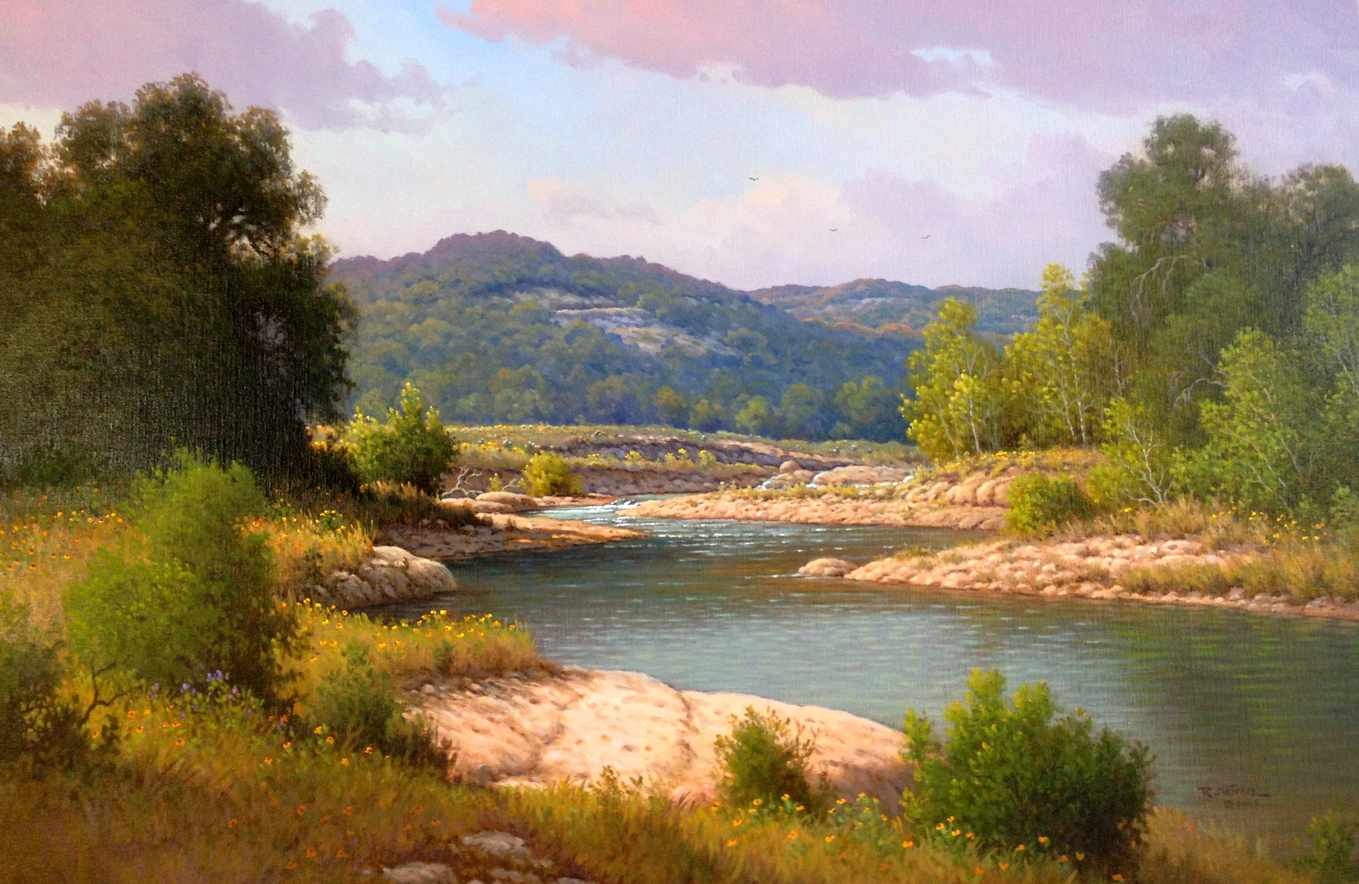 Cool Water, Cow Creek by Mr Jerry Ruthven - Masterpiece Online