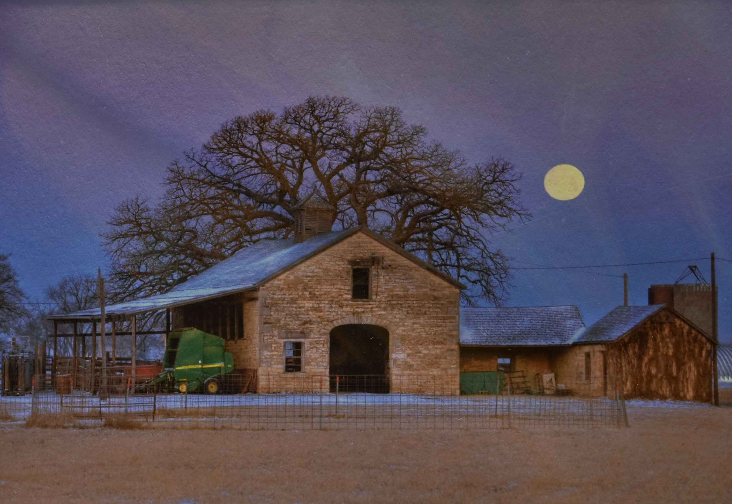 Stone Barn Moon by  Kevin Sink - Masterpiece Online