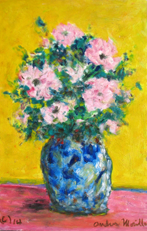 The Pink Flowers by  Andres  Morillo - Masterpiece Online