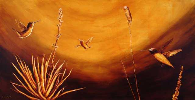 Sonoran Hummingbirds by  Jourdan Dern Powers - Masterpiece Online