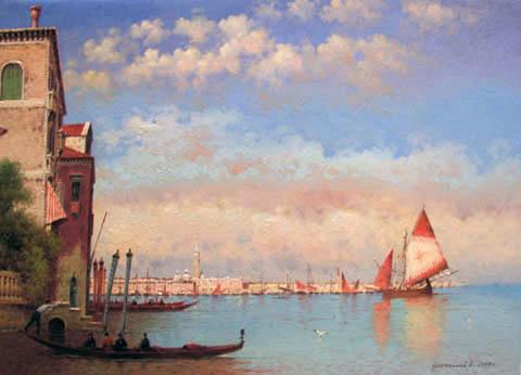 Leaving Venice by  Vasily Gribennikov - Masterpiece Online