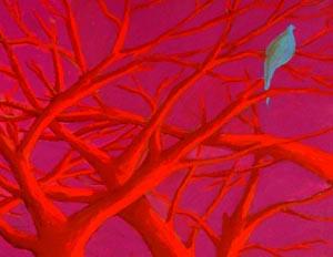Forest And Bird-Pink  by  Nathalie Novi