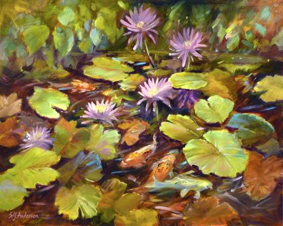 Lily-koi by  Susie Y. Anderson - Masterpiece Online