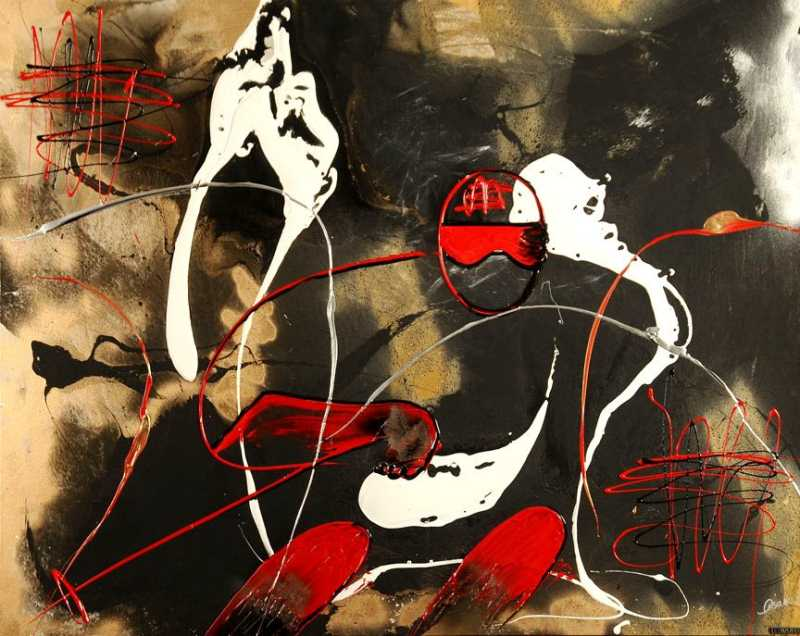 Red skier by  Lisabel  - Masterpiece Online