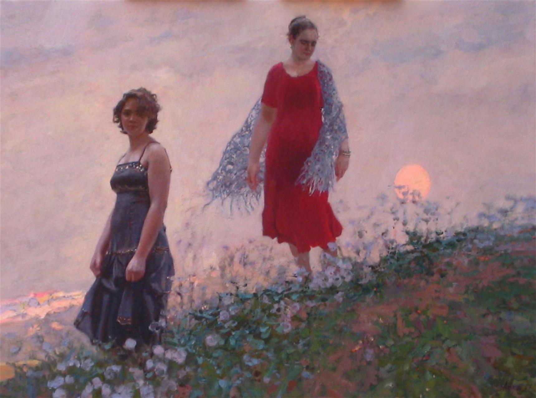 Two, II ( Luna ) by  Daud Akhriev - Masterpiece Online