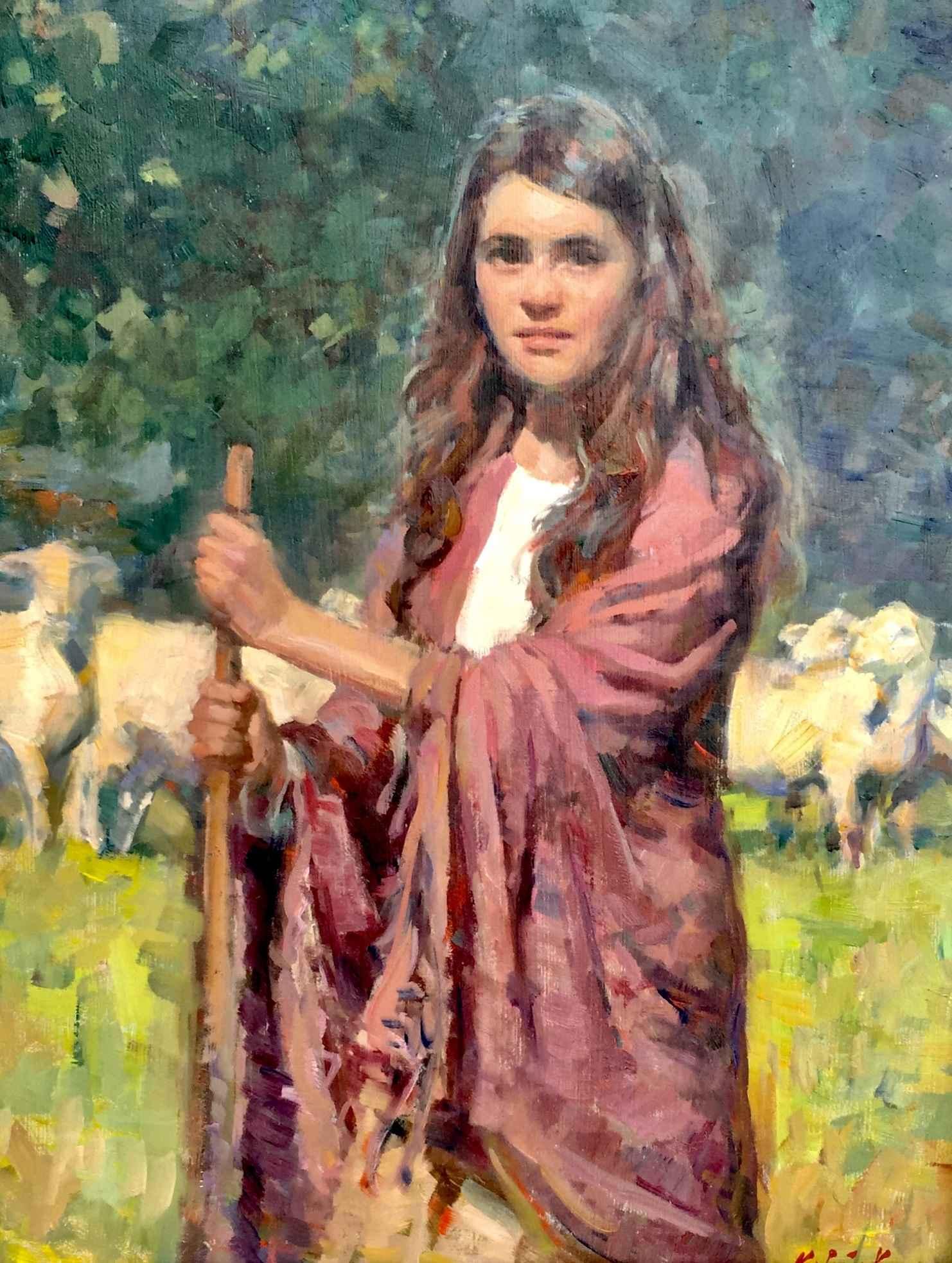 The Shepherdess by  William Kalwick - Masterpiece Online
