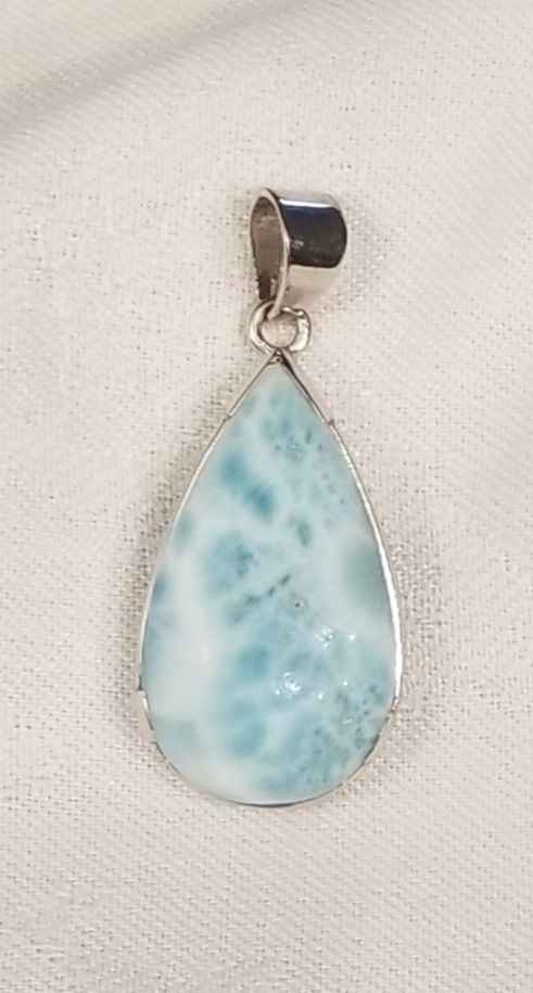 Pendant - Larimar Drop by  Gallery Pieces - Masterpiece Online