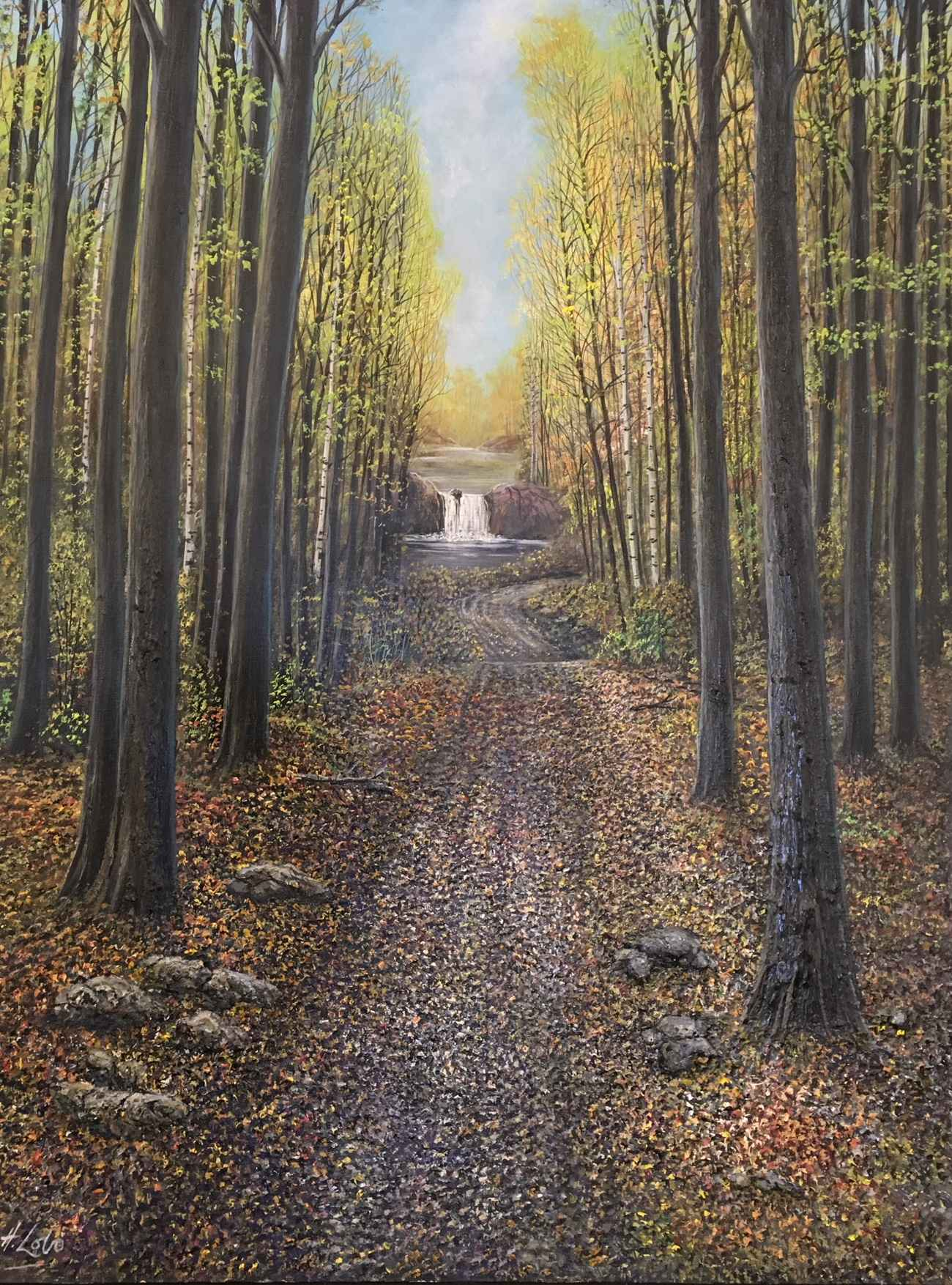Path to the Falls by  Henry Lobo - Masterpiece Online