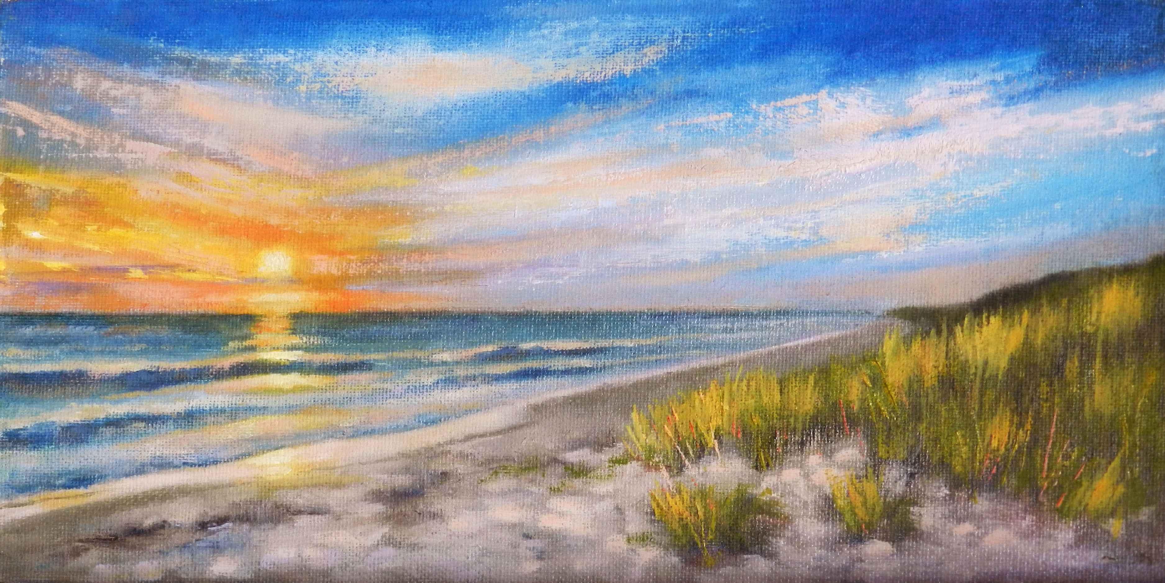 Sunset Beach by  Sharon McCann Daly - Masterpiece Online