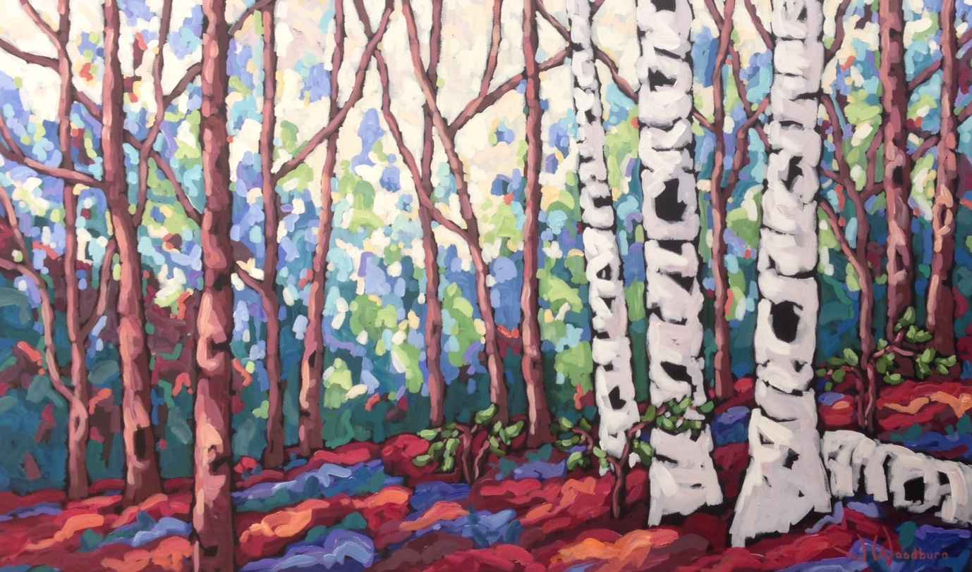 Birches Surrounded by Ms Jennifer Woodburn - Masterpiece Online