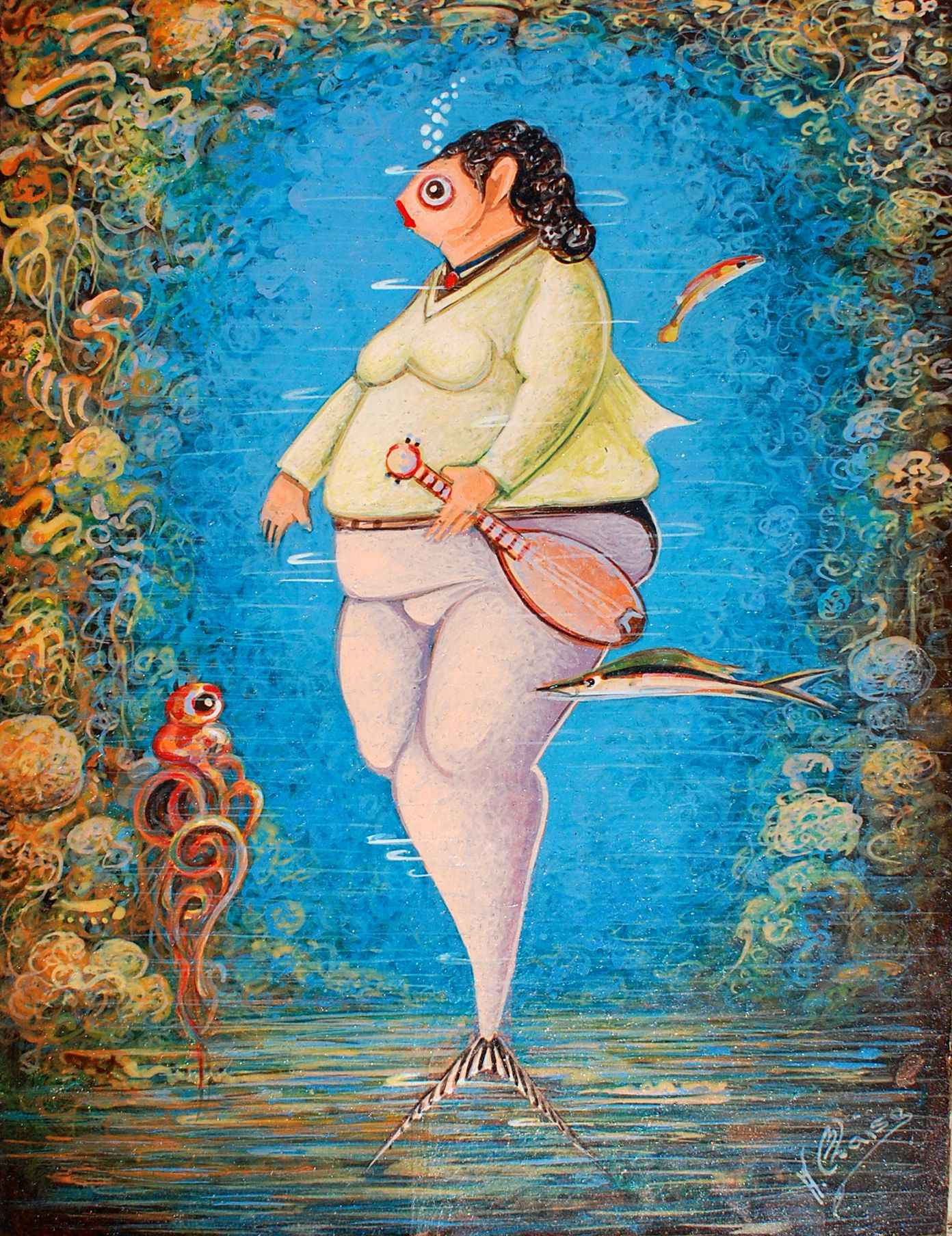 Banjo Lady by  Andre BLAISE - Masterpiece Online