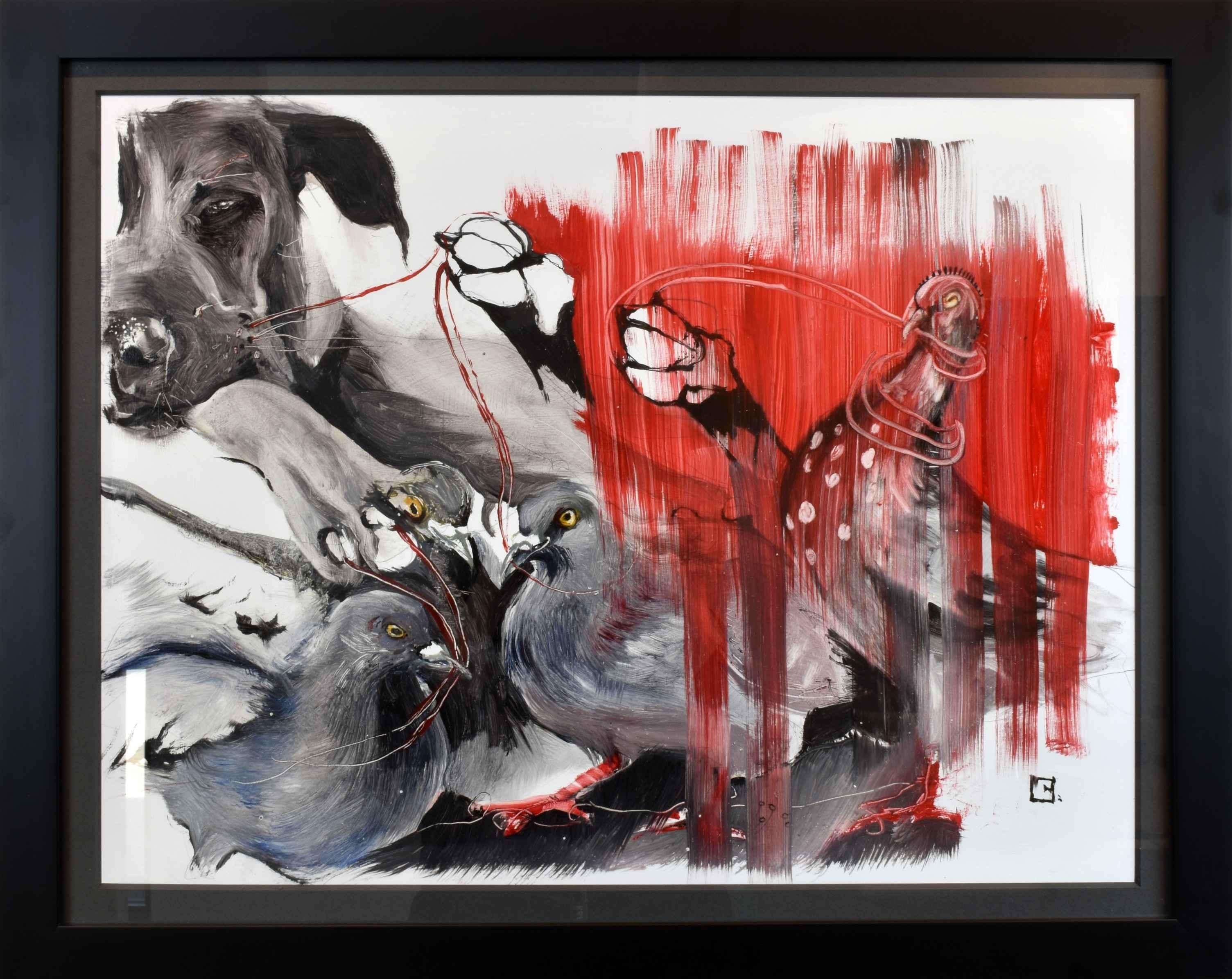 DOG I PULL by  Olga Gal - Masterpiece Online